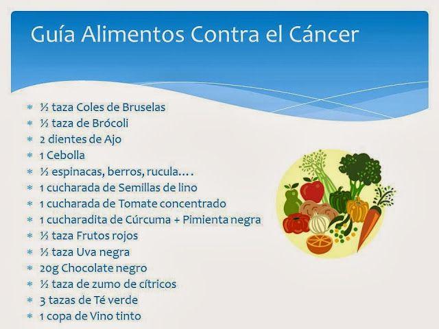 Alimentos antic ncer alimentaci n pinterest - Alimentos que evitan el cancer ...