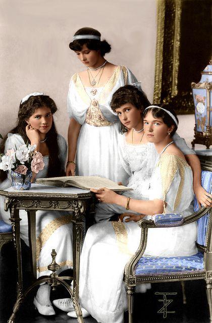The daughters of Tsar Nicholas II