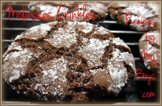 Molasses Crinkles. Sweet and spicy..perfect for the holidays
