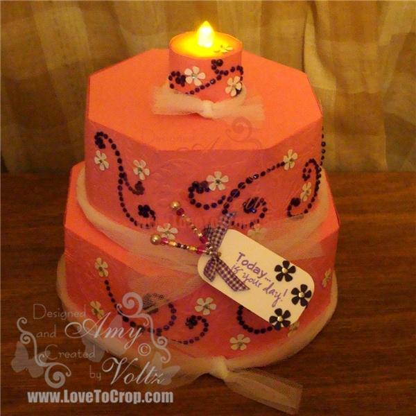 Birthday Cake Explosion Box