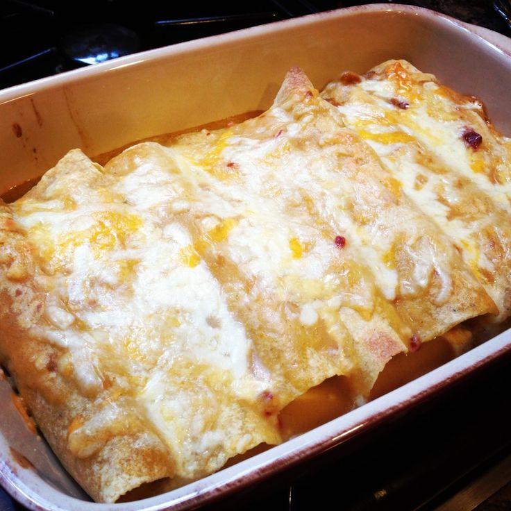 lighter chicken enchiladas | Recipes | Pinterest