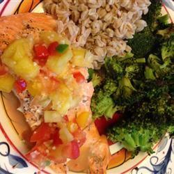 Salmon with Fruit Salsa Allrecipes.com