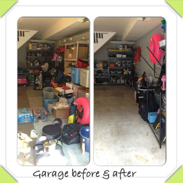 Garage Organizing Before After Clean And Orderly