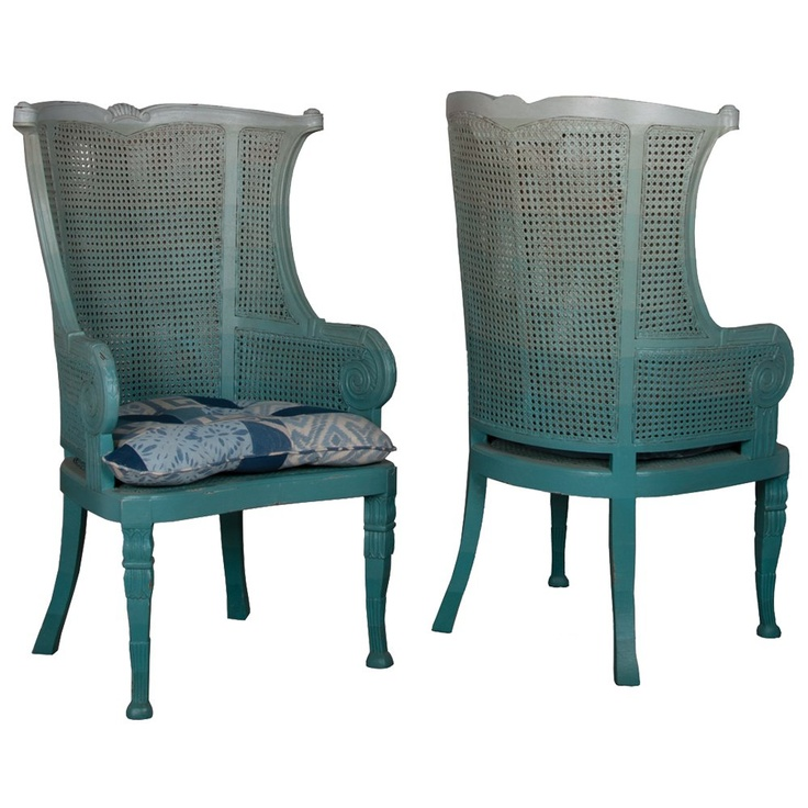 Shades of blue wingback chairs express yourself in color pinterest