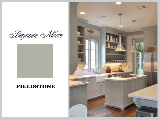 Sally Wheat Kitchen: Benjamin Moore Fieldstone