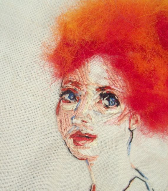 embroidered portrait by ericandsteph84 on Etsy