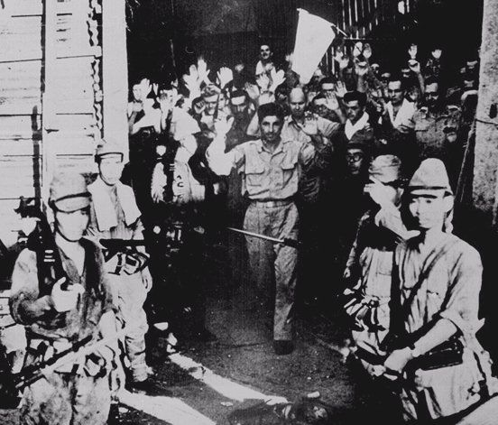 Surrender of US troops to the Japanese at Corregidor