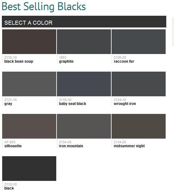 Best Selling Blacks Benjamin Moore Paint Colors