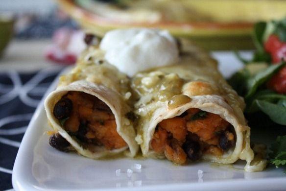 sweet potato & black bean enchiladas | Food | Pinterest