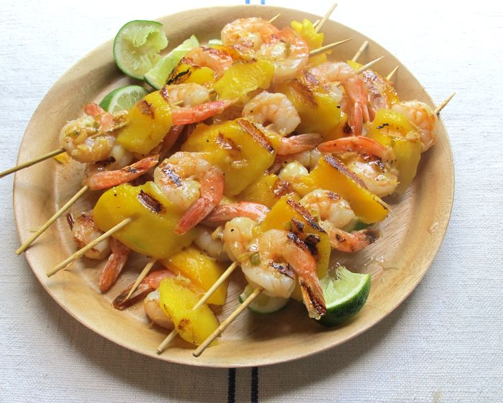 Brown Sugar and lime glazed shrimp and pineapple kebabs- so easy and ...