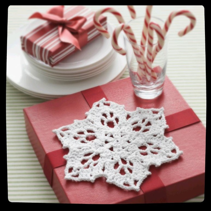 #Snowflake dishcloth or trivet :) Perfect for winter decor #yarn #love #crochet
