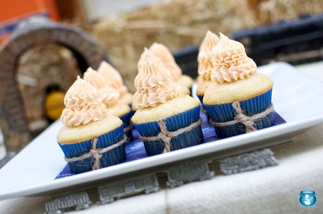"""Make tall swirls of frosting on cupcakes and call them """"smokestack cupcakes"""""""