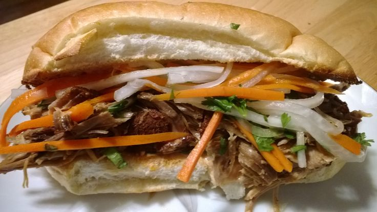 "... Do Chua"" (a pickled Daikon/Carrot Slaw) on a light and airy Baguette"