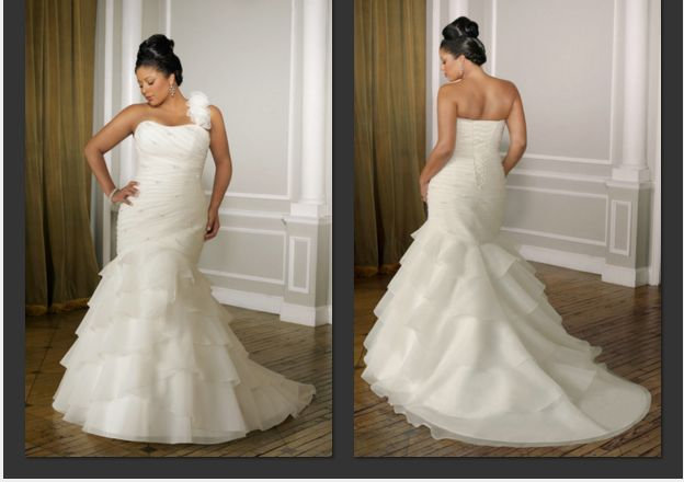 One Shoulder Plus Size Wedding Dress Wedding Dresses
