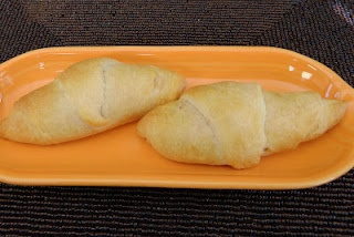 Chocolate peanut butter filled crescent rolls,