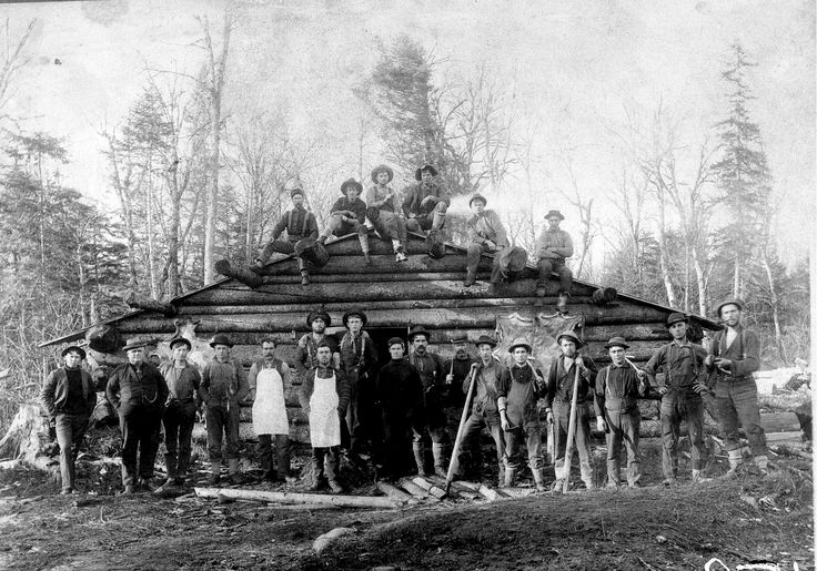 Maine logging c... Logging Camp History