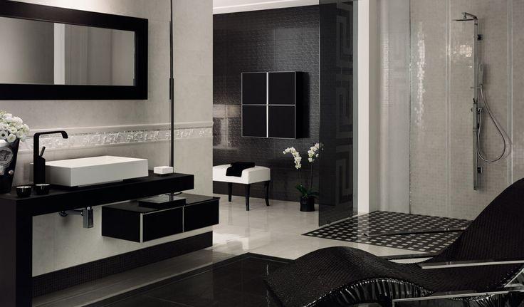Versace Tile Bathroom.  Ideas for the home  Pinterest