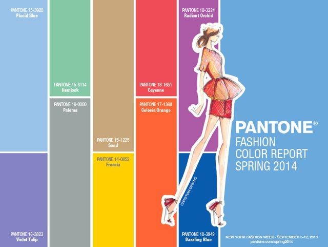 Los colores de moda para la primavera 2014, el color report de Pantone