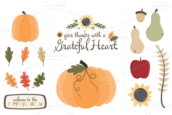 Thanksgiving Grateful Heart Clip ArtThankful Heart Clipart