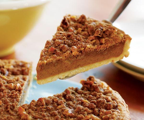 Bourbon Pumpkin Tart with Walnut Streusel Recipe- No calories here!