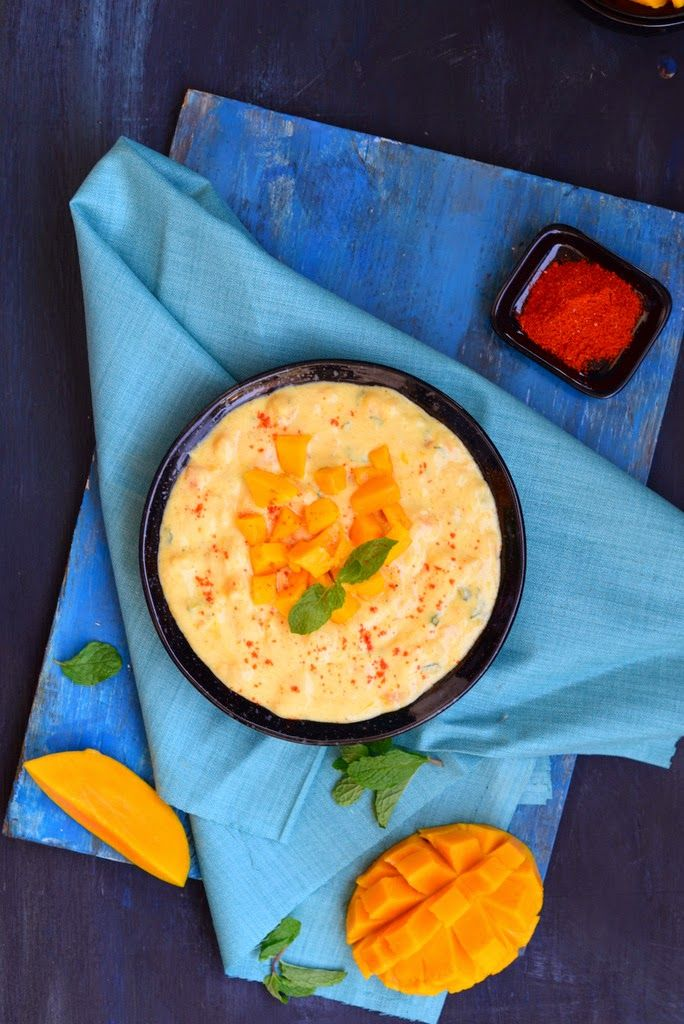 Mango Mint Raita ( Yogurt with Mango and Mint )