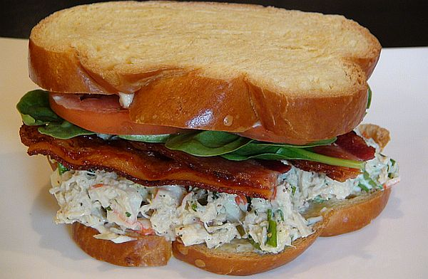 RECIPE: Succulent Crab Salad Club Sandwich