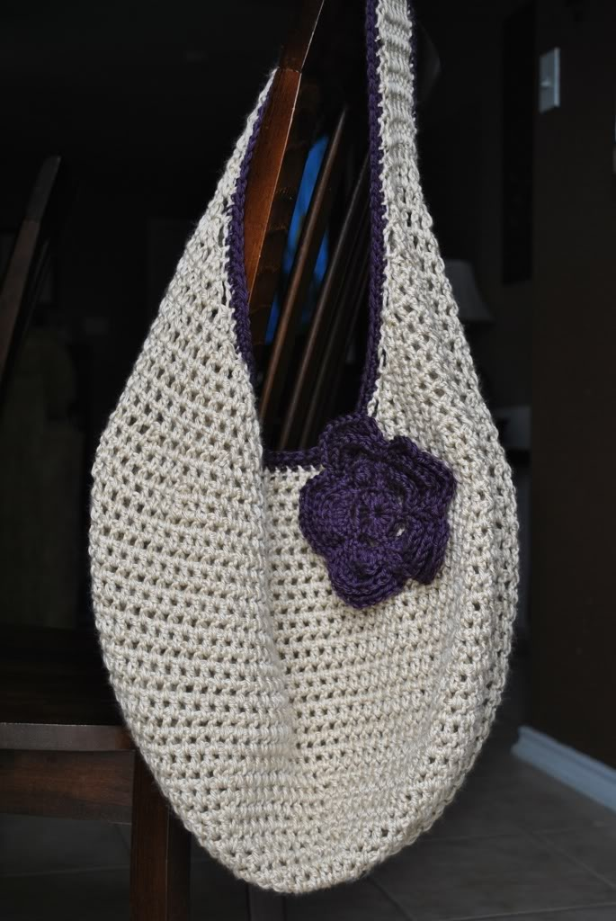 Crocheted market bag Yarn Crafts Pinterest