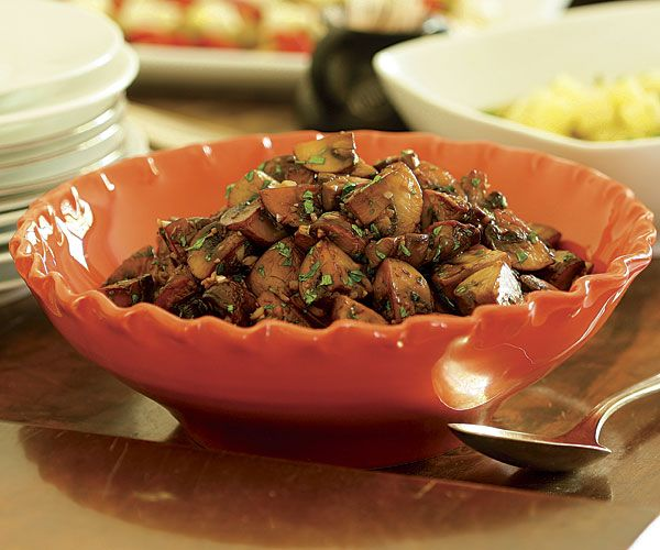 ... , quick and easy dinner - Sautéed Mushrooms with Garlic & Parsley