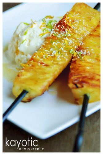 Pineapple & Tequila Kabobs from kayotic | Yummy goodness | Pinterest