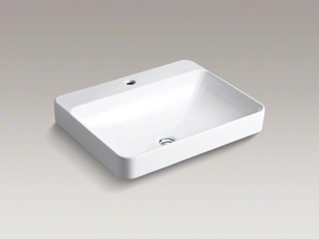 Kohler Vox Sink : Upstairs sink ????KOHLER K-2660-1 Vox Rectangle Vessel Sink ...