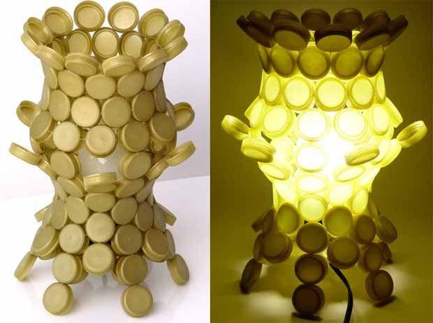 lámpara con botones