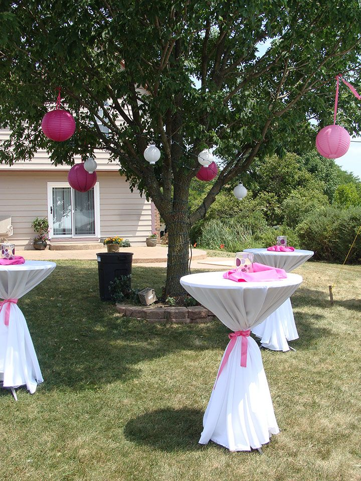 Pin by raquel pacheco on graduation party pinterest for Outdoor tent decorating ideas