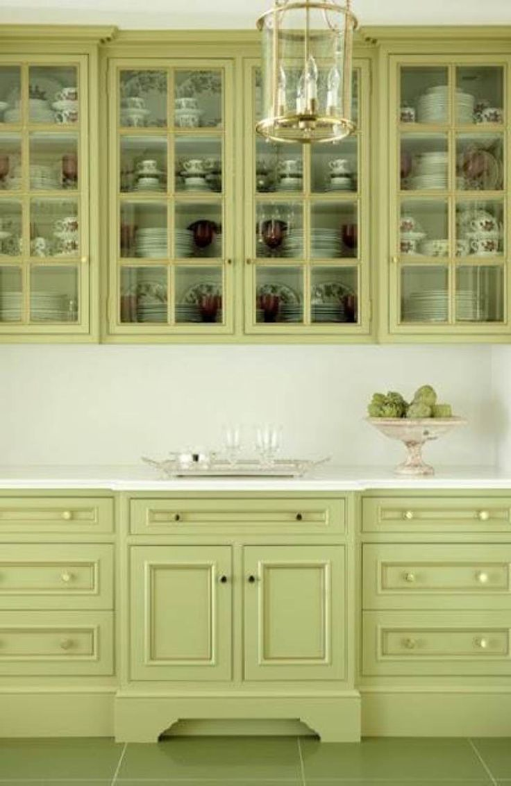 Green kitchen cabinet paint colors for my home pinterest - Kitchen paint colors ...