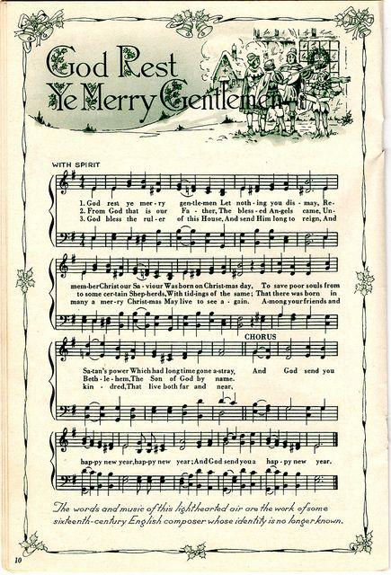 Christmas Carols printable   CHRISTMAS MUSIC   Pinterest