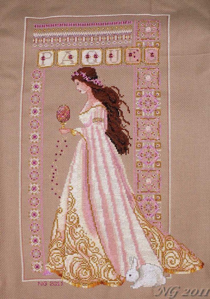 Lavender lace вышивка