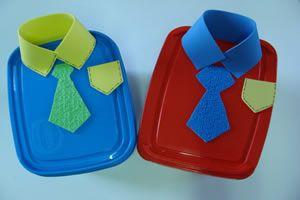 #diadospais - Pote de sorvete decorado para o dia dos pais
