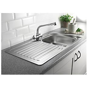 Screwfix Franke Sink : Franke 1 Bowl Inset Kitchen Sink with Reversible Drainer Stainless ...