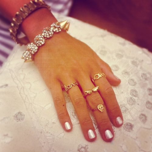 A cool way to wear rings.