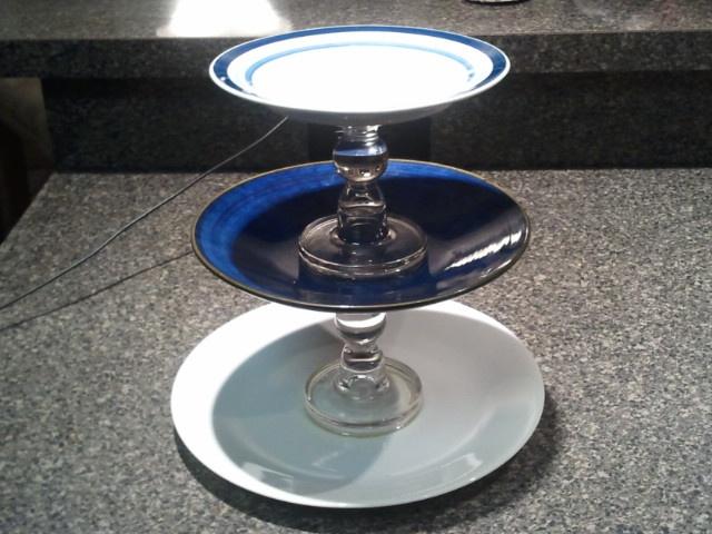 3 tier serving tray diy tiered trays pinterest. Black Bedroom Furniture Sets. Home Design Ideas