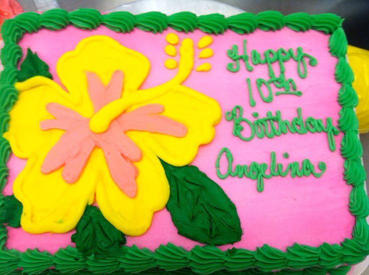 Hibiscus flower cake Email me for cakes! Belongstomord@gmail.com ...