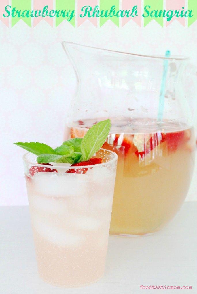 Strawberry Rhubarb Sangria by Foodtastic Mom