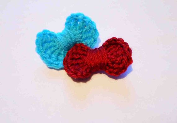 ... hair bows - crochet hair bow set - baby girl infant toddler hair