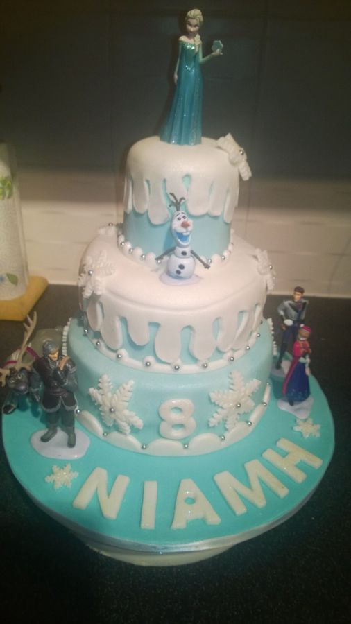 Birthday Cake Ideas Disney Frozen : Disney Frozen 3 Tier Birthday Cake Cakes Pinterest
