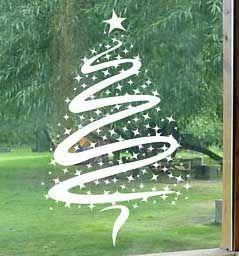 Vinilo Ventana Arbol De Navidad Navidad Pinterest