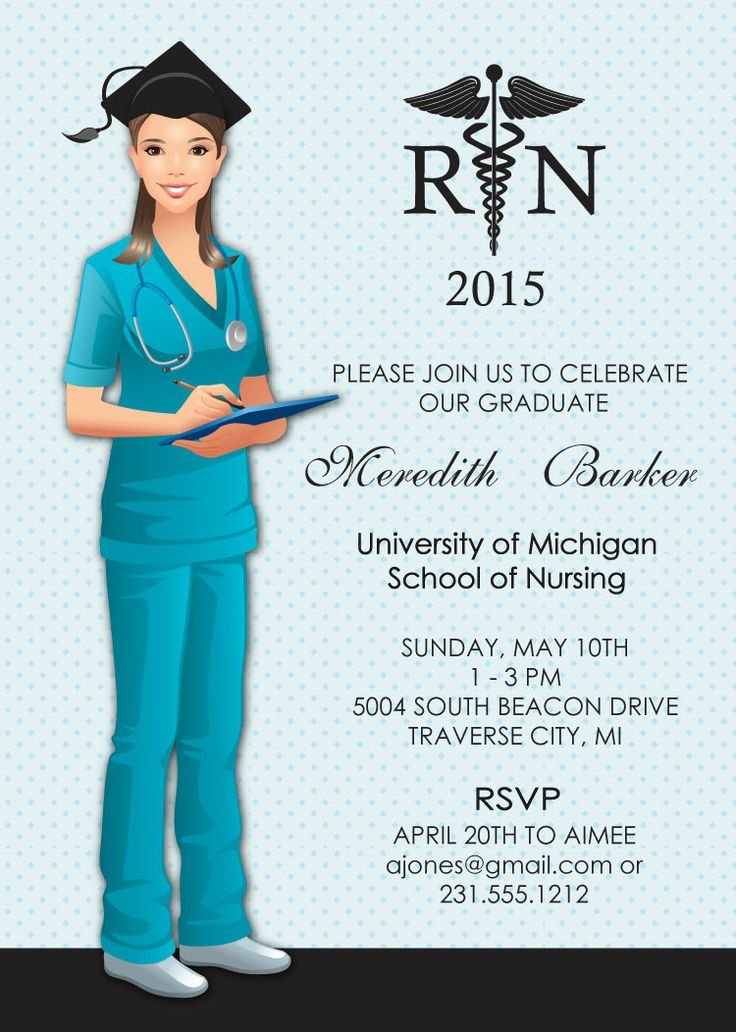 Nurse Graduation Invitations can inspire you to create best invitation template