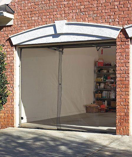 New single garage mesh screen door w magnetic closure for 18 x 8 garage door screen