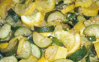 SAUTÉED ZUCCHINI AND YELLOW SQUASH 2 medium zucchini, 7 ounces 2 ...