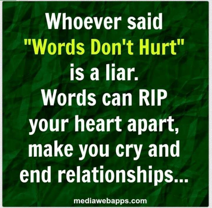 Words DO Hurt | MENTAL DESPAIR | Pinterest