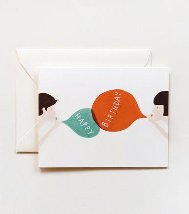 happy birthday balloon cards