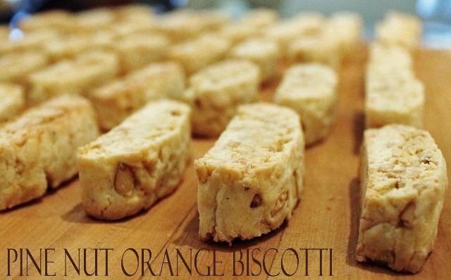 Biscotti Recipe via @lesliereese Pine Nut-Orange Biscotti
